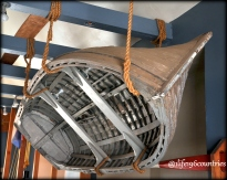 boat hanging from ceiling