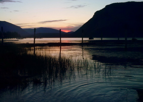 Sunset on Shuswap Lake BC
