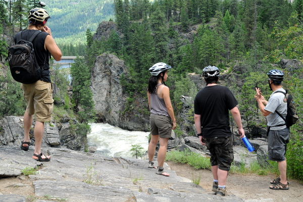 Exploring Cascade Falls in #ChristinaLakeBC